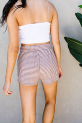 Give Me A Mocha Striped Shorts - BeeLovely Boutique