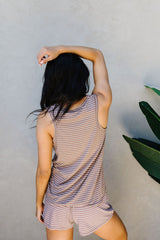 Give Me A Mocha Striped Tank - BeeLovely Boutique