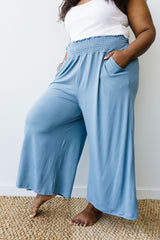 Go Get 'Em Gaucho Pants In Blue Gray - BeeLovely Boutique