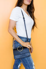 Inner Circle Clutch In Midnight Blue - BeeLovely Boutique