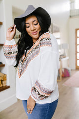 Lace Overlay Waffle Knit Top