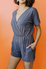 Surplice Shadow Romper - BeeLovely Boutique