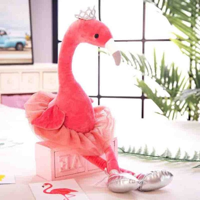 Peluche Flamant Rose Princesse