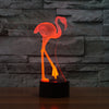Flamant Rose 3D Couleurs Changeable