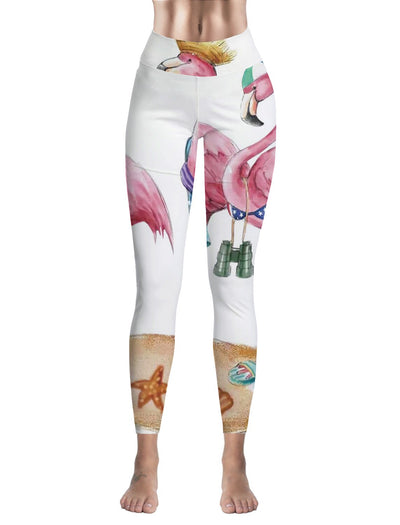 Leggings Femme Fitness Flamant Rose Summer Holidays