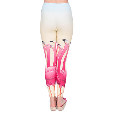 Legging Femme Flamant Rose Cartoon