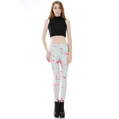 Legging Femme Flamant Rose Simple