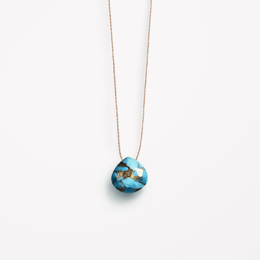 Fine Cord Necklace | Mohave Turquoise