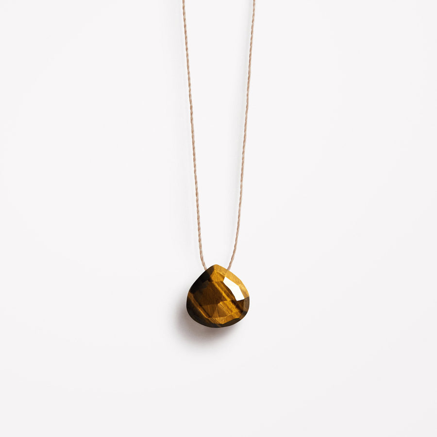 Fine Cord Necklace | Tigers Eye