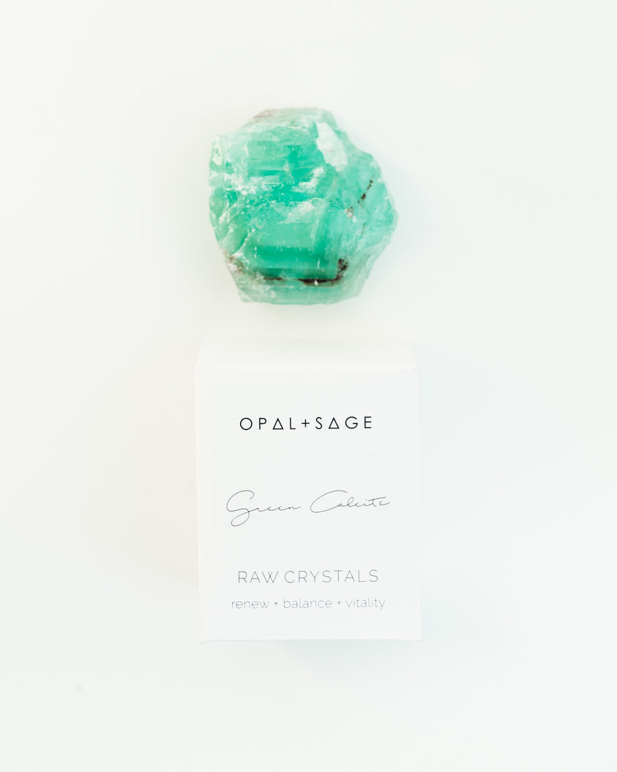Raw Crystal | Green Calcite