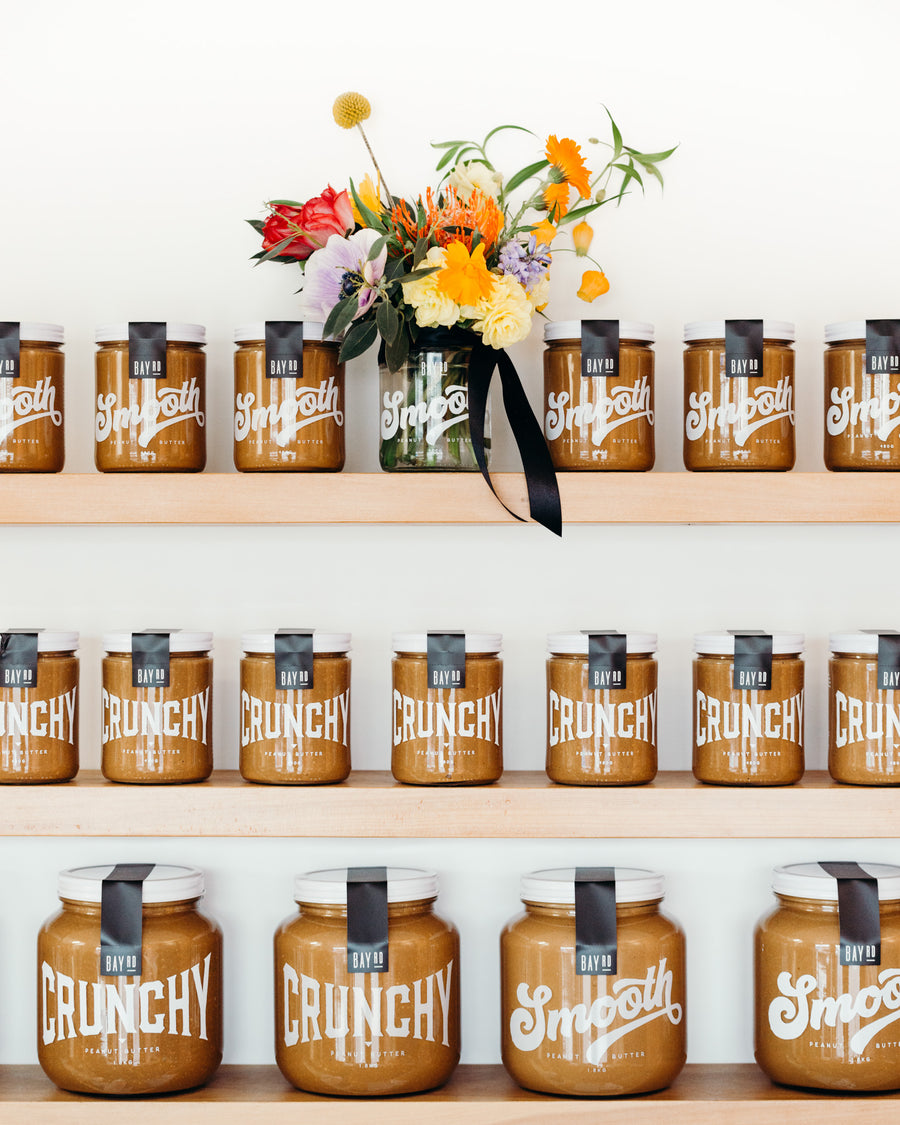 Bay Road peanut butter and Dunedin florist collaboration