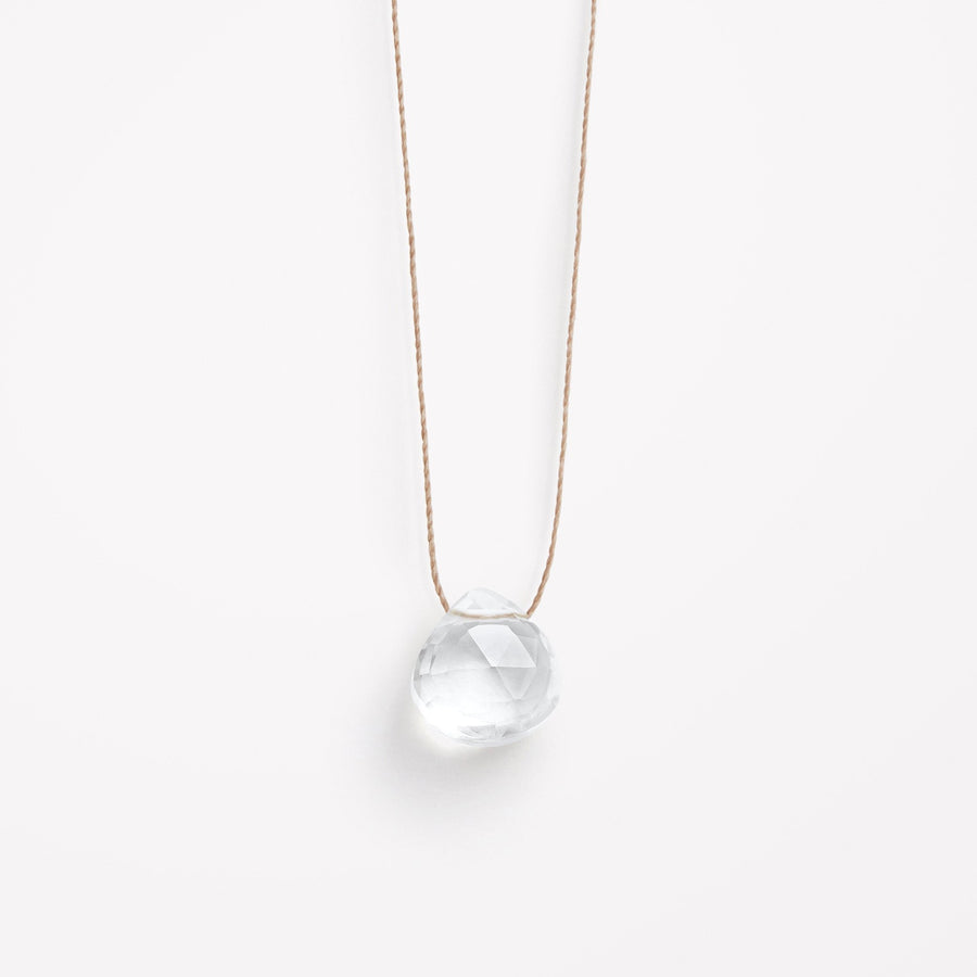 April Birthstone Necklace | Clear Quartz