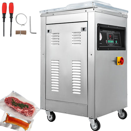 Dz-400t Automatic Vacuum Packing Sealing Sealer Machine 750w Chamber Kitchen