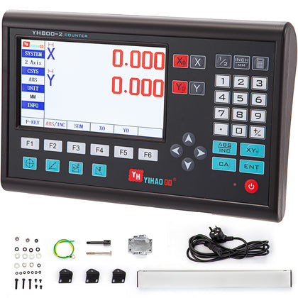 Precision 2 Axis Lcd Digital Readout For Milling Lathe Machine With Linear Scale