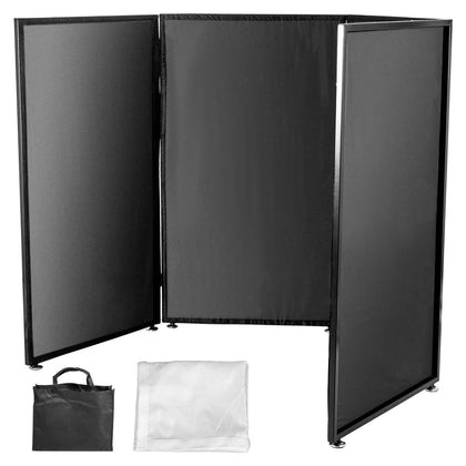 4xpanels Dj Booth Foldable Screen Room Divider Dj Event Stage Effect White