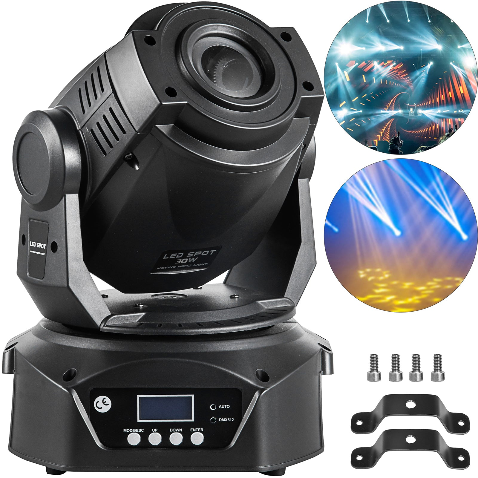 60w Moving Head Stage Light Rgbw Gobo Pattern Spot Led Party Wedding 8 Gobos