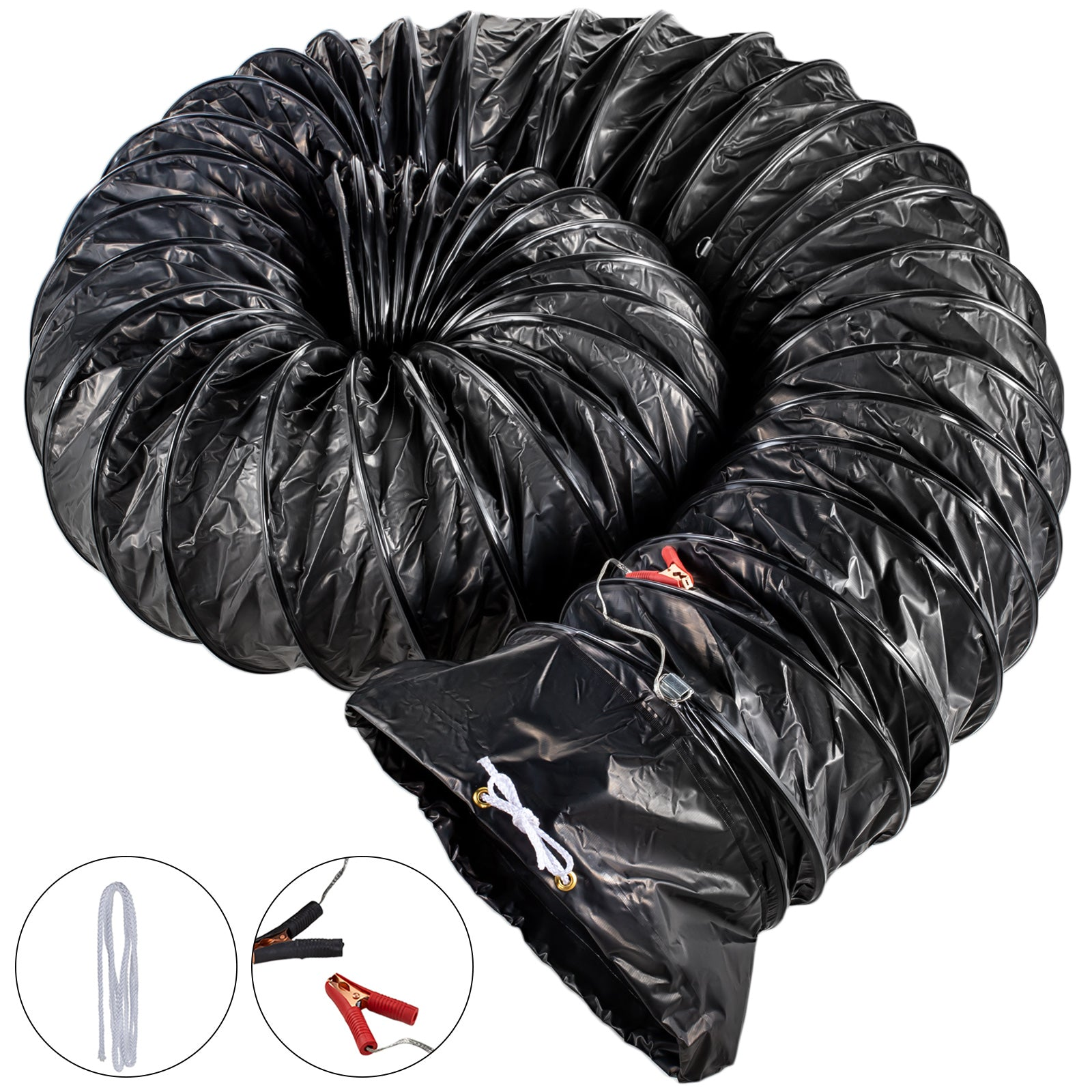 "Duct Hose 250mm (10"") F Dust Extractor Ventilator Fan 8m Pvc Ducting"