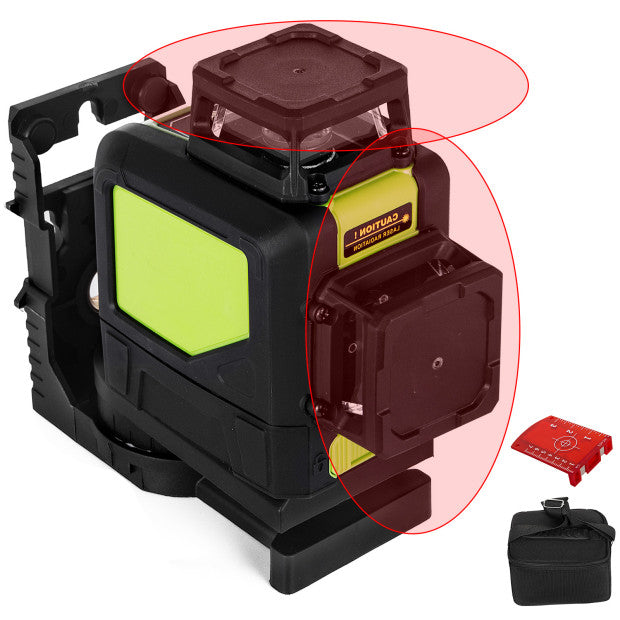 8 Lines Rotary Laser Level Red Light 360° Au 3d Cross Self Leveling 30m Range