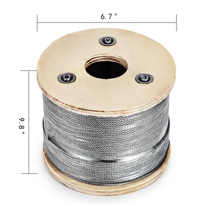 Wire Cable Rope 305m Grade 316 7x7 316 Stainless Steel Fishery Lifting
