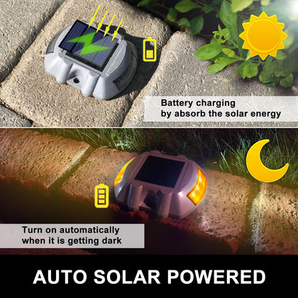 Solar Power Led Outdoor Road Driveway Pathway Dock Path Step Light 8 Pack Au