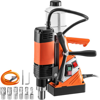 Vevor Magnetic Drill Pressmagnetic Base Drill 10000 N Force 1100w 11pcs Cutter