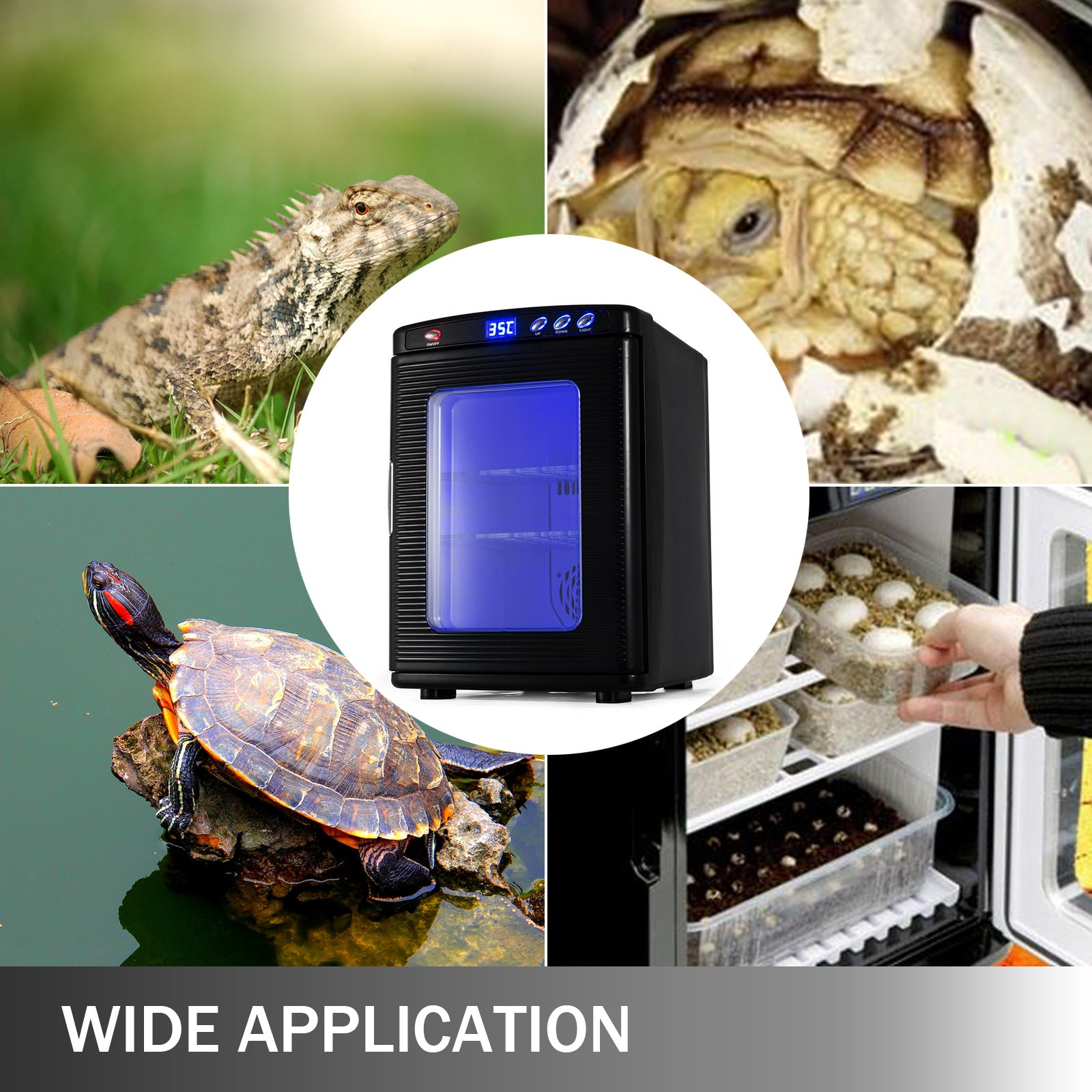 Digital Egg Incubator For Hatching Chicken Duck Reptile Bird Brooder