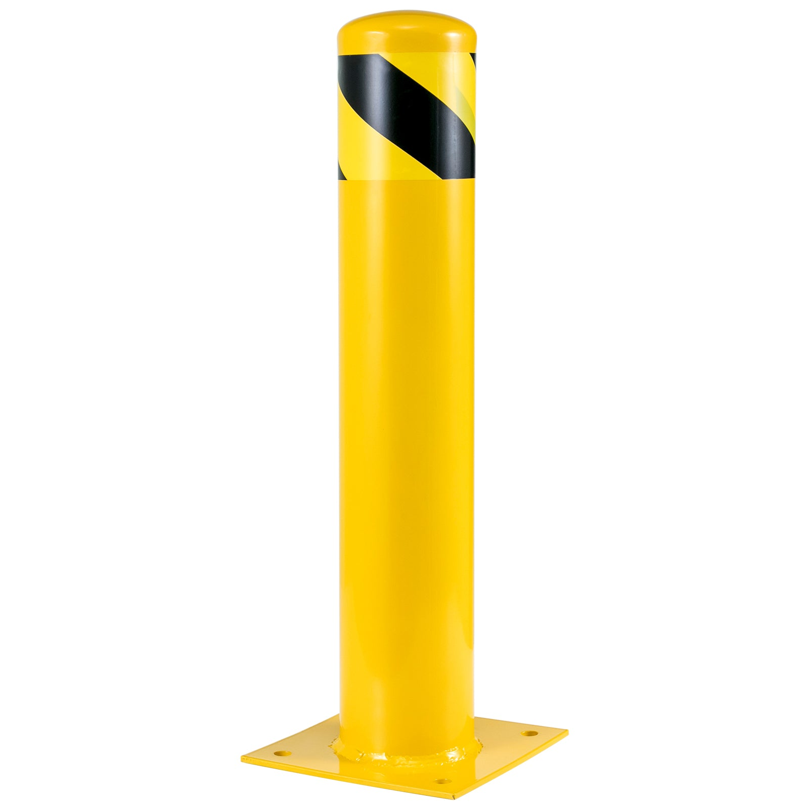 Safety Bollard Vechical Parking Barrier Security Post Steel Fixed 24''h 5.5''d