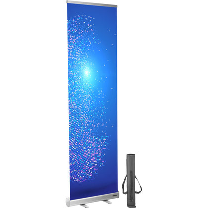 Vevor Floor Standing Sneeze Guard Roll Up Banner Stand 61x200cm Portable Banner