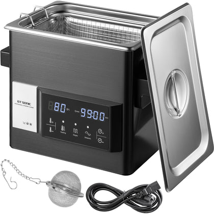 Vevor Digital Ultrasonic Cleaner Ultrasonic Cleaning Machine 10l Stainless Steel