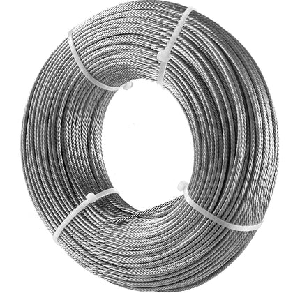 Vevor 316 Stainless Steel Wire Rope Steel Wire Cable 3.2mm X 152.5m 798kg 1x19