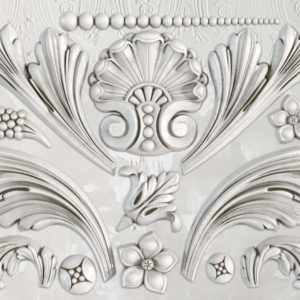 "IOD - Iron Orchid Designs - Silicone Decor Mould - Acanthus Scroll - 6"" x 10"""