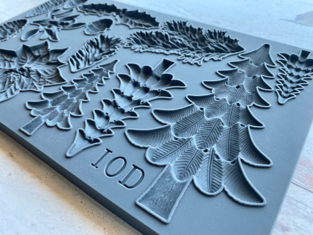 IOD - Iron Orchid Designs - Silicone Decor Mould - Boughs of Holly