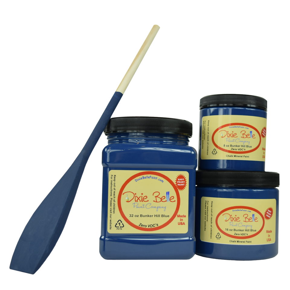 Dixie Belle BUNKER HILL BLUE CHALK MINERAL PAINT - New