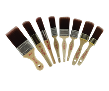 Load image into Gallery viewer, Dixie Belle Paint Brush - Oval Medium (OM) Brush with Synthetic Bristles -1 3/4""