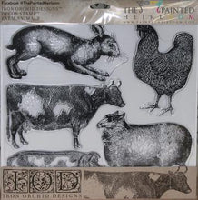 Load image into Gallery viewer, IOD - Iron Orchid Designs - Decor Stamp - Farm Animals
