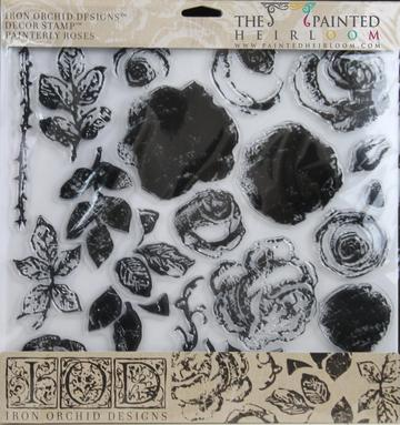 IOD - Iron Orchid Designs - Decor Stamp - Painterly Rose