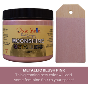 Dixie Belle Moonshine Metallic Chalk Mineral Paint - 16 oz.- Rozay - NEW