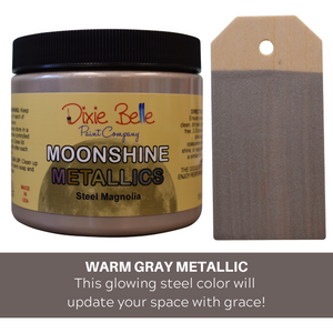 Dixie Belle Moonshine Metallic Chalk Mineral Paint - 16 oz.- Steel Magnolia - NEW