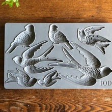Load image into Gallery viewer, IOD - Iron Orchid Designs - Silicone Decor Mould - Birdsong - Birds in Flight, perched, and resting and sitting birds