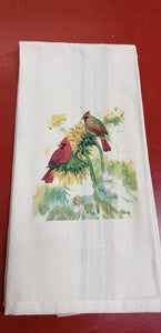 Red Clover Farm Handmade Tea Towel by Dawn's Garden Gate