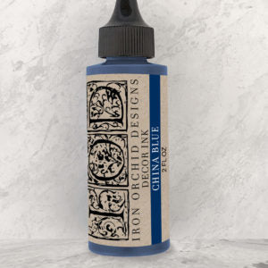 IOD - Iron Orchid Designs - Decor Ink - CHINA BLUE - 2 oz.