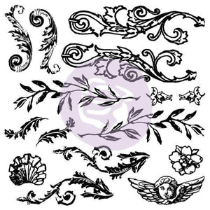 IOD - Iron Orchid Designs - Decor Stamp - Flourished - 1st Generation - Retired