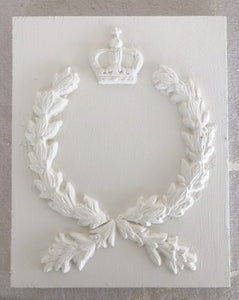 IOD - Iron Orchid Designs - Silicone Decor Mould - Laurel - Laurel branches, bees, and crowns