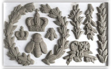 Load image into Gallery viewer, IOD - Iron Orchid Designs - Silicone Decor Mould - Laurel - Laurel branches, bees, and crowns