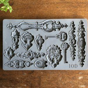 IOD - Iron Orchid Designs - Silicone Decor Mould - Lock & Key