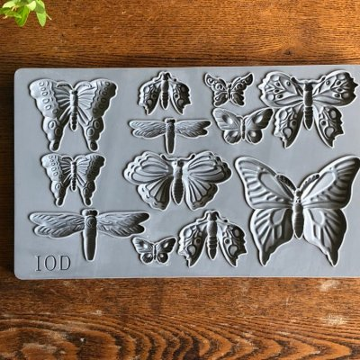 IOD - Iron Orchid Designs - Silicone Decor Mould - MONARCH - Butterflies, dragonflys, moth