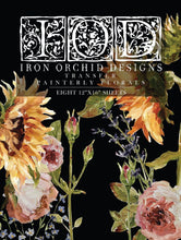 Load image into Gallery viewer, IOD - Iron Orchid Designs - Decor Transfer - PAINTERLY FLORALS - New
