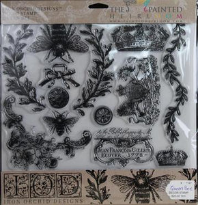 IOD - Iron Orchid Designs - Decor Stamp - Queen Bee