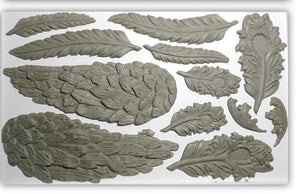 IOD - Iron Orchid Designs - Silicone Decor Mould - Wings & Feathers