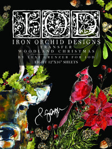 IOD - Iron Orchid Designs - Decor Transfer - WOODLAND CHRISTMAS - Limited Edition
